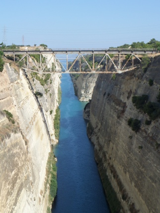 The Corinth Canal.